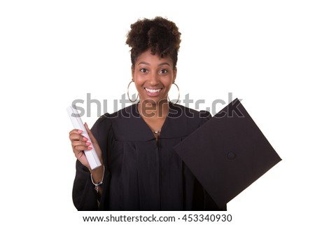 Recently college graduate isolated on white - stock photo