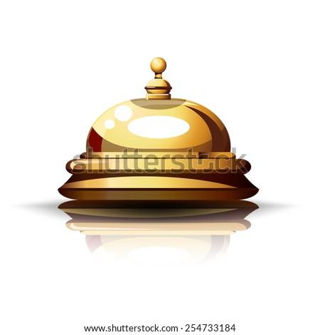 Reception Bell. - stock photo