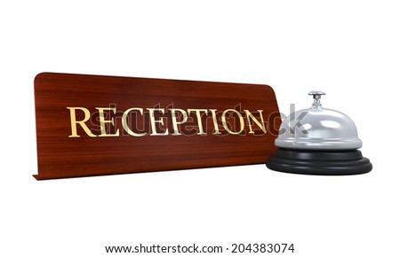 Reception Bell and Reception Plate - stock photo