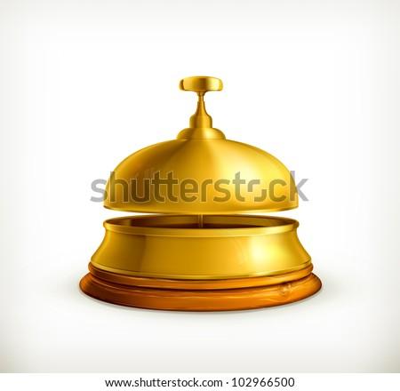 Reception Bell, bitmap copy - stock photo