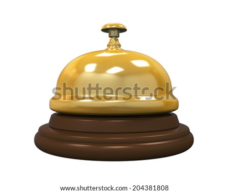 Reception Bell Isolated - stock photo