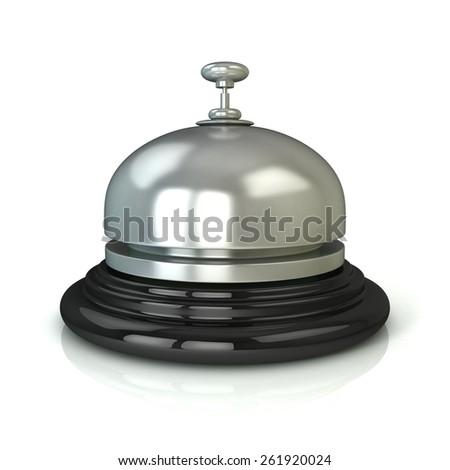Reception bell. Isolated on white background - stock photo