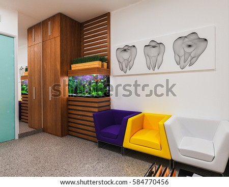 reception dental clinic design modern styleのイラスト素材 584770456