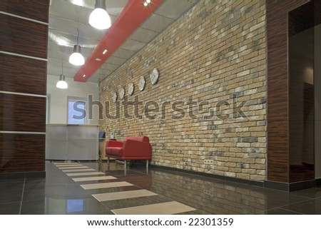reception in establishment - stock photo