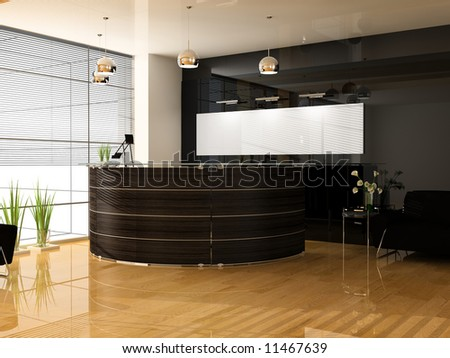 Reception in modern office