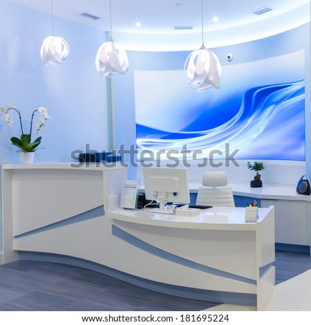 Reception Interior Design - stock photo