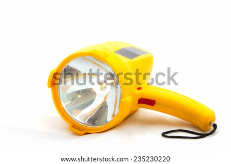 Rechargeable halogen handle spotlight - stock photo