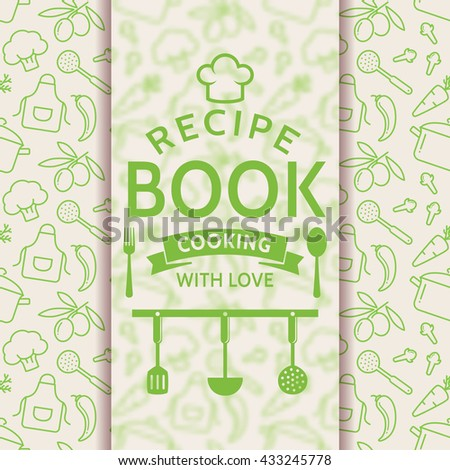 Recipe Book Cooking Love Elegant Recipe Stock Vector 291880139 ...