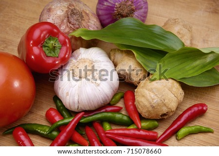 Recipe book fresh herbs south asia stock photo royalty free recipe book with fresh herbs south asia and spices on wooden background concept asian forumfinder Gallery