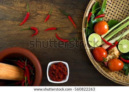 Recipe book fresh herbs south asia stock photo royalty free recipe book with fresh herbs south asia and spices on wooden background concept thai forumfinder Choice Image