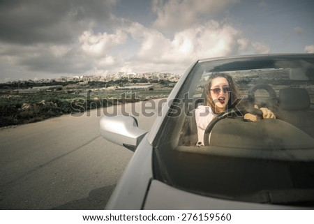 Reckless driving - stock photo