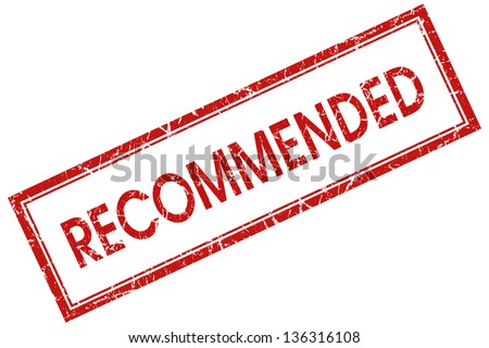 recommended stamp - stock photo