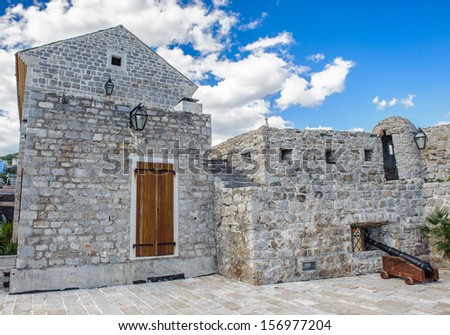 Reconstructed fortress of the Old Town of Budva, famous for the earthquakes it suffered in 1979
