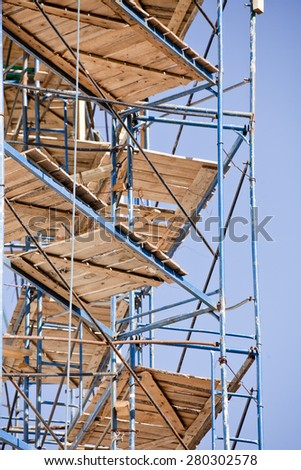 Reconstruction of the building - Scaffold