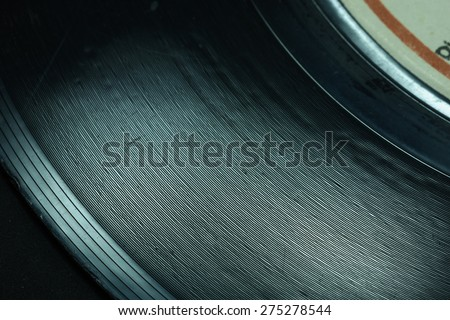 Record Grooves Close Up