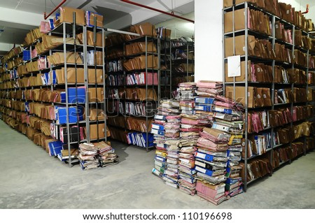 record office - stock photo