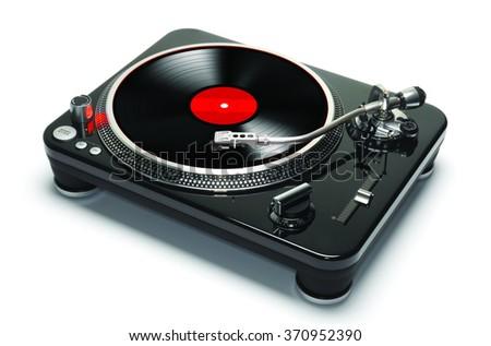 Record phonograph - stock photo