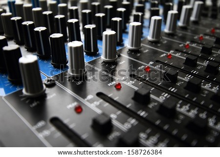 Recording Mixer - close up