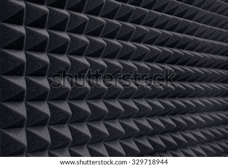 Recording studio sound dampening acoustical foam - stock photo