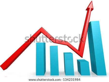 Recovery graph - stock photo