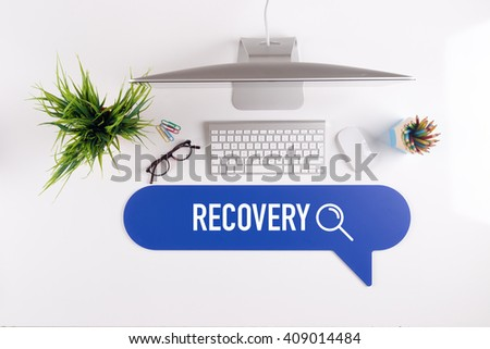 RECOVERY Search Find Web Online Technology Internet Website Concept - stock photo