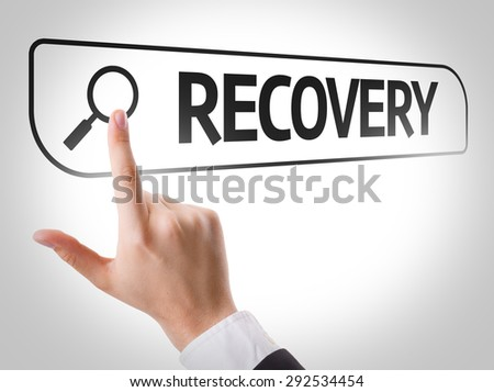 Recovery written in search bar on virtual screen - stock photo