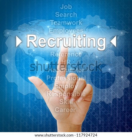 Recruiting,Business concept in word for Human resources - stock photo