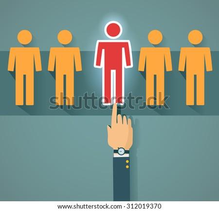 Recruitment and human resource - stock photo