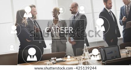 Recruitment Hiring Career job Employment Concept - stock photo