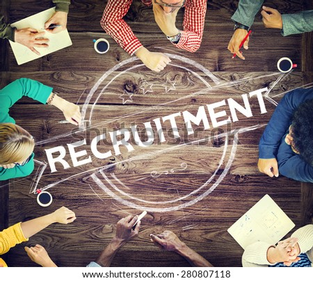 Recruitment Hiring Skills Job Occupation Concept - stock photo