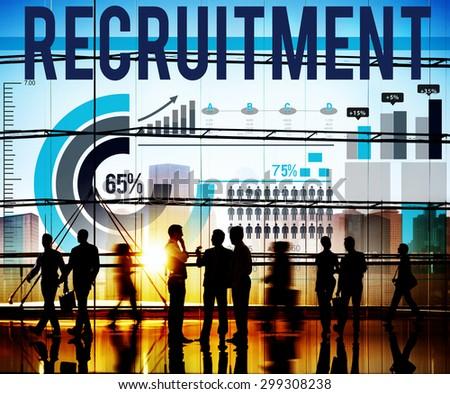 Recruitment Human Resources Employment Occupation Concept - stock photo