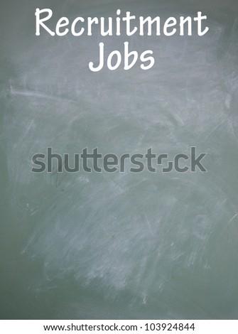 recruitment jobs symbol - stock photo