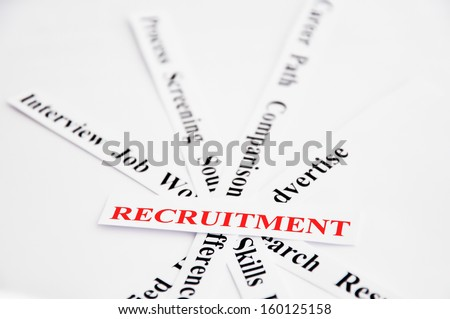 recruitment process - stock photo
