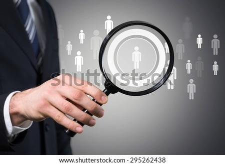 Recruitment, recruit, recruiter. - stock photo