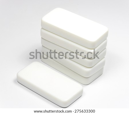 Rectangle cubes on white background