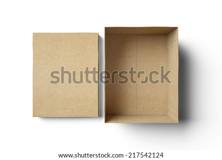 Rectangle shape box made of cardboard - stock photo