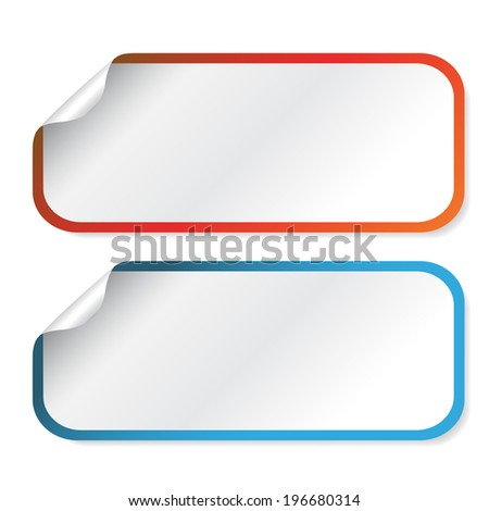 rectangle stickers - stock photo