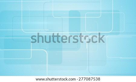 rectangular shapes on blue background - stock photo