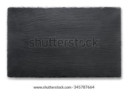 Rectangular slate stand isolated on a white background - stock photo