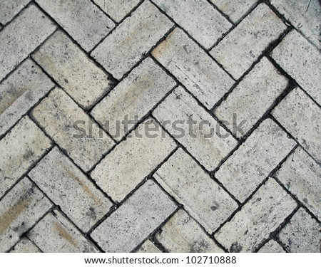 Rectangular Stones Texture Outdoor - stock photo
