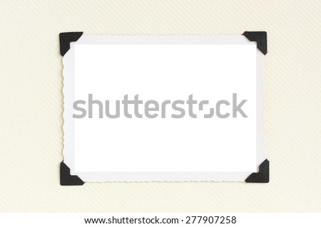Rectangular vintage blank photo with room for copy space - stock photo