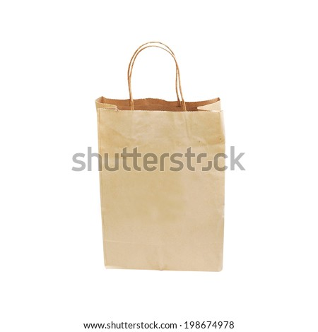 Recycle bag isolated on white background