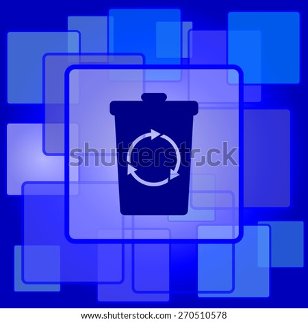 Recycle bin icon. Internet button on abstract background.  - stock photo