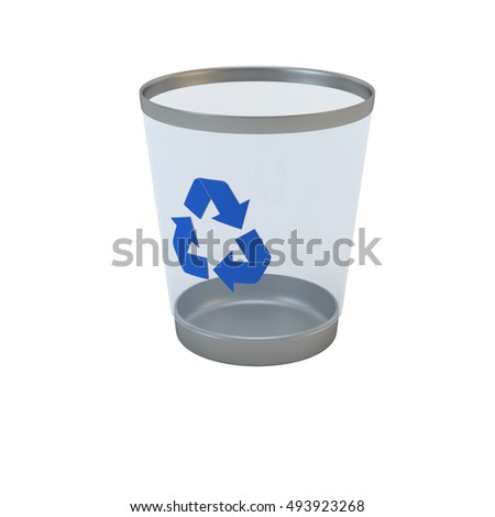 recycle bin isolated 3d render