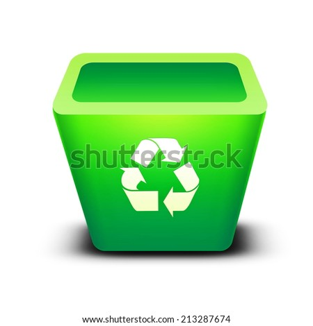 recycle bin Isolated on a white background