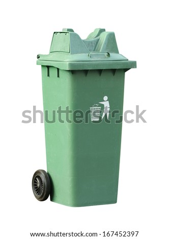 Recycle bin (with clipping path) isolated on white background