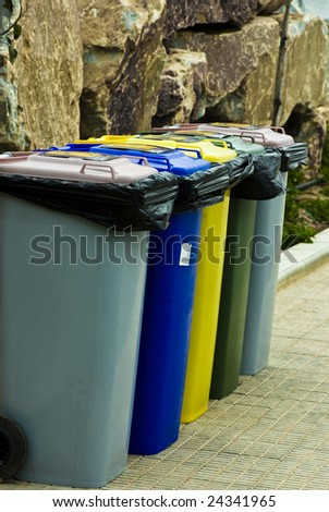recycle containers - stock photo