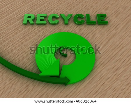 Recycle Cycle Concept | 3D Illustration - stock photo