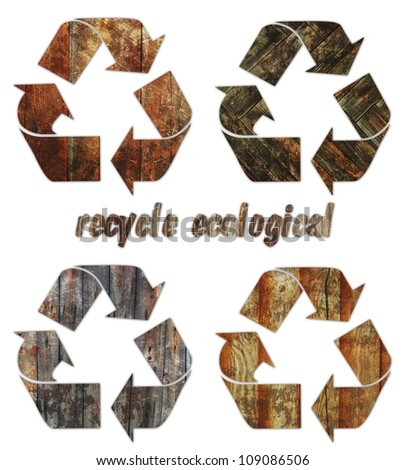 recycle ecological  Oak wood vintage abstract rusty colored background.