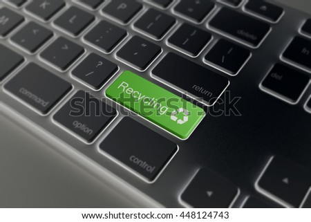 Recycle enter key in green